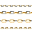 Chain Line Set vector image vector image