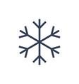 chsnowflake icon black silhouette snow flake sign vector image vector image