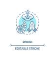diwali concept icon vector image
