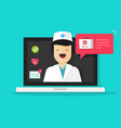 doctor online flat cartoon vector image