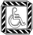 doodle handicap symbol vector image vector image