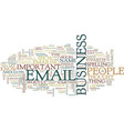 email etiquette v text background word cloud vector image vector image