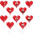 Emotion hearts balloon set