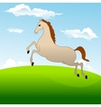 Fastest horse gallops across field vector image