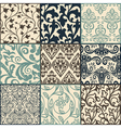 floral pattern swatches vector image vector image