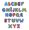 Funny kids colorful alphabet vector image vector image