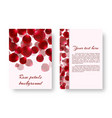 greeting card with rose petals vector image