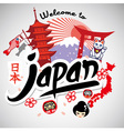 Greeting series welcome to japan vector image