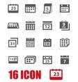 grey calendar icon set vector image vector image