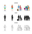 isolated object of character and avatar sign vector image vector image