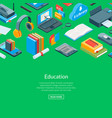 isometric online education icons background vector image vector image
