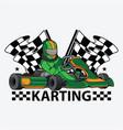 karting racing design logo vector image