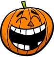 laughing pumpkin cartoon vector image vector image