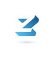 Letter Z logo icon design template elements vector image vector image