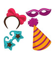 masquerade and kids carnival party celebration vector image vector image
