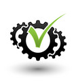 mechanical check mark vector image vector image