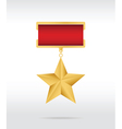 medal star vector image vector image