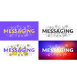 messaging flat line concept for web banner and vector image vector image
