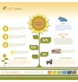 Modern infographic green template design vector image vector image