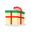 nice colored box with a wonderful beautiful bow in vector image vector image