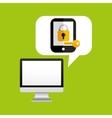 online protection digital key save vector image vector image