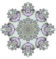 Ornate mandala white background vector image