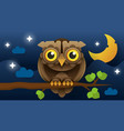 owl isolated icon wild forest feathered nocturnal vector image vector image