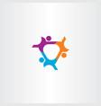 people connect team icon logo symbol design vector image vector image