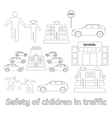 Safety of children in traffic vector image vector image