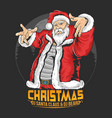 santa claus raper hip hop christmas party artwork vector image vector image