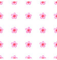 seamless pattern with sakura blossom isolated vector image vector image