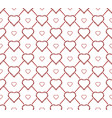 seamless texture with a grid of hearts and vector image vector image