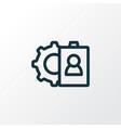selection icon line symbol premium quality vector image