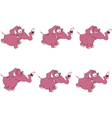 Set of elephants storyboard vector image vector image