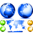 set of globes vector image