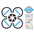 Shutter Drone Icon With 2017 Year Bonus Pictograms vector image vector image