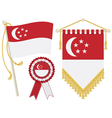 singapore flags vector image
