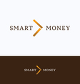 Smart money arrow logo vector image vector image