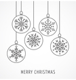 snowflakes geometric christmas ornaments vector image vector image