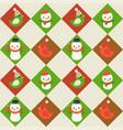snowman editable line detailchristmas seamless vector image