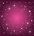 starry sky with purple glow shining stars sky vector image