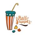Summer ice-drink in cartoon style vector image vector image