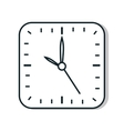 Time and clock line icon design vector image vector image