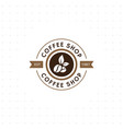 vintage coffee logo and label vector image vector image