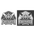 vintage firefighter logos vector image vector image