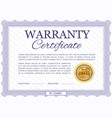 warranty certificate template diploma vector image