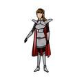 warrior princess armor cape costume halloween vector image vector image