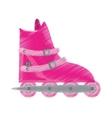 pink roller skate sport activity vector image