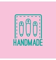 Handmade colorful logo design with pins vector image