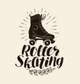 roller skating lettering vintage vector image